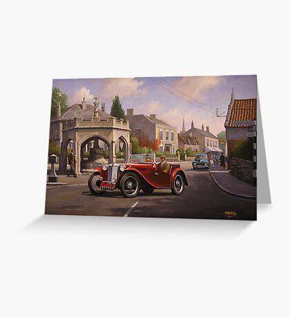 MG TC sports car. Greeting Card