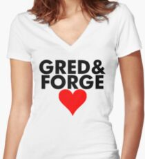 Gred and Forge Women's Fitted V-Neck T-Shirt