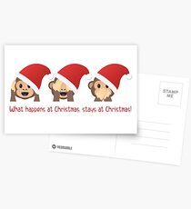What happens at Christmas, stays at Christmas! Postcards