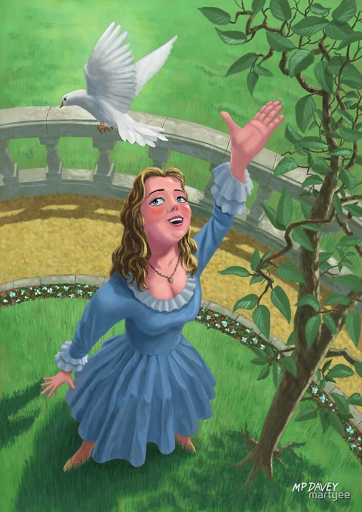 princess releasing bird by martyee