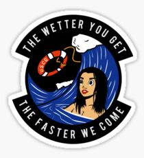 USCG - The Wetter You Get The Faster We Come Sticker