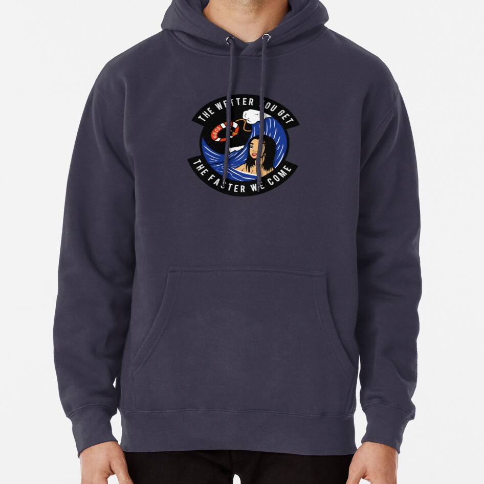 USCG - The Wetter You Get The Faster We Come Pullover Hoodie
