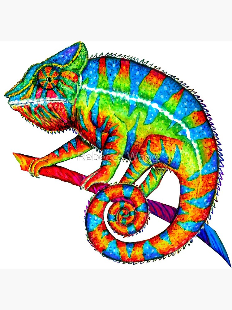 Colorful Rainbow Panther Chameleon by lioncrusher