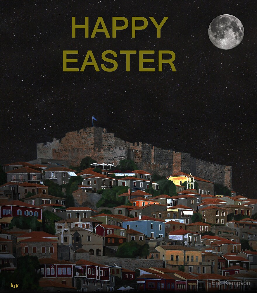 The Scream World Tour Molyvos Lesvos Greece Happy Easter by Eric Kempson