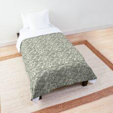 swirl floral - grey Comforter