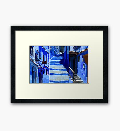 The Blue City IV Framed Print