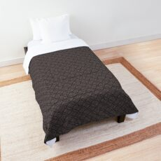 geometric repeat pattern in browns Comforter
