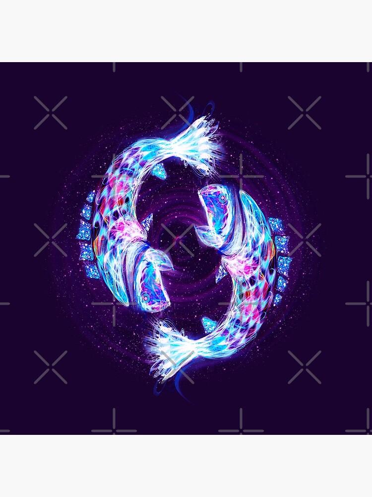 Pisces Zodiac Lightburst by ifourdezign