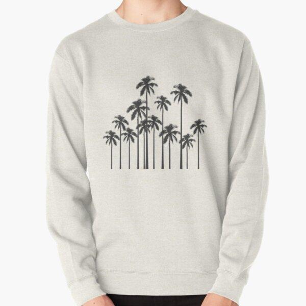 Exotische tropische Schwarzweiss-Palmen Pullover