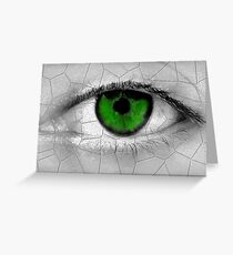 The Green Look Greeting Card