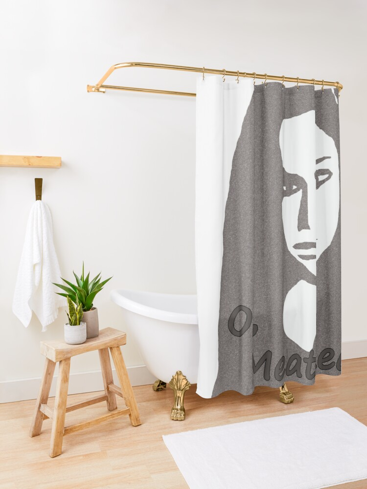 Alternate view of Orphan Black Oi Meathead Shower Curtain