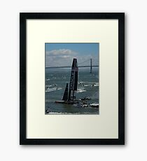 """The USA Oracle wins the America's Cup"" Framed Print"