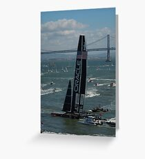 """""""The USA Oracle wins the America's Cup"""" Greeting Card"""