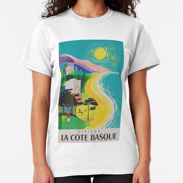 La Cote Basque, France, Vintage Travel Poster Classic T-Shirt