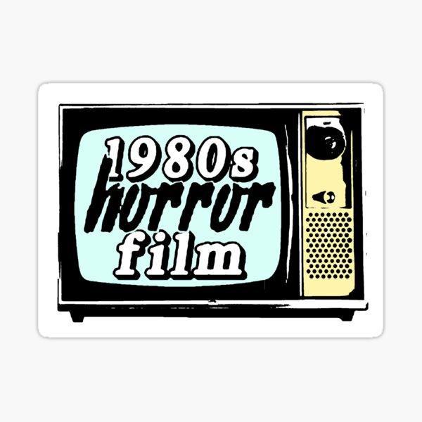 film d'horreur des années 1980 Sticker fini brillant