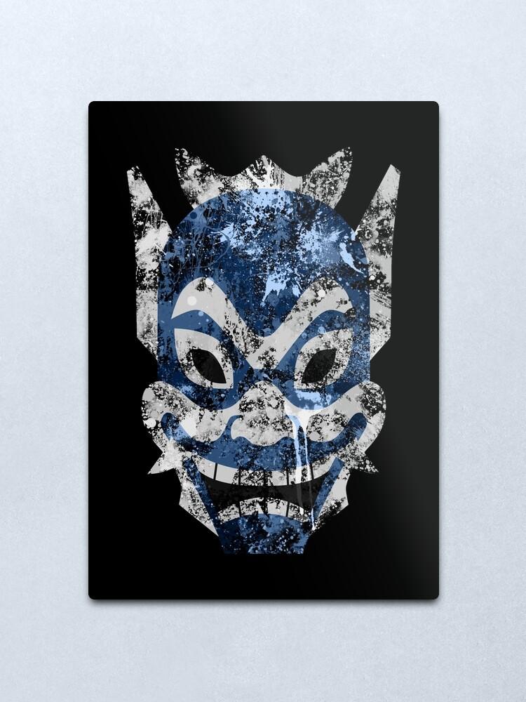 Alternate view of Blue Spirit Splatter Metal Print