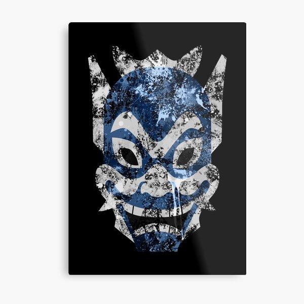 Blue Spirit Splatter Metal Print