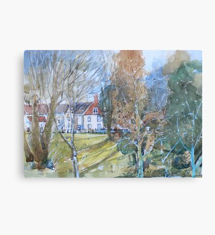 Balcony view, across the canal Canvas Print