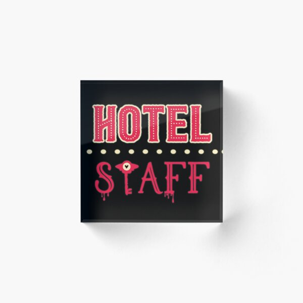 Hazbin Hotel Staff Acrylic Block