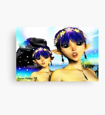 The Elf Sisters Canvas Print