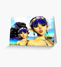 The Elf Sisters Greeting Card