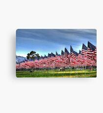 911 Flag Memorial: USA Canvas Print