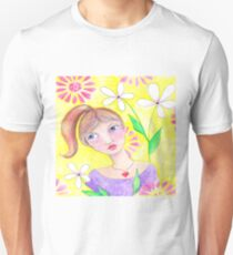 Whimiscal girl with pony tail T-Shirt