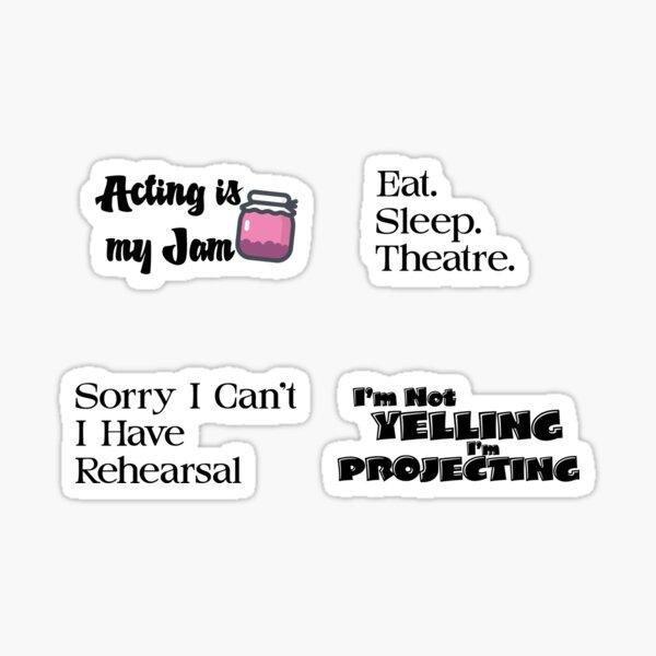Theatre Sticker Pack Sticker
