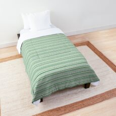 Summer stripe in greens Comforter