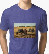 Golden Tractors  Tri-blend T-Shirt