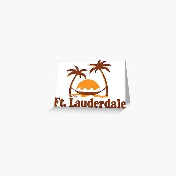 Fort Lauderdale. Greeting Card