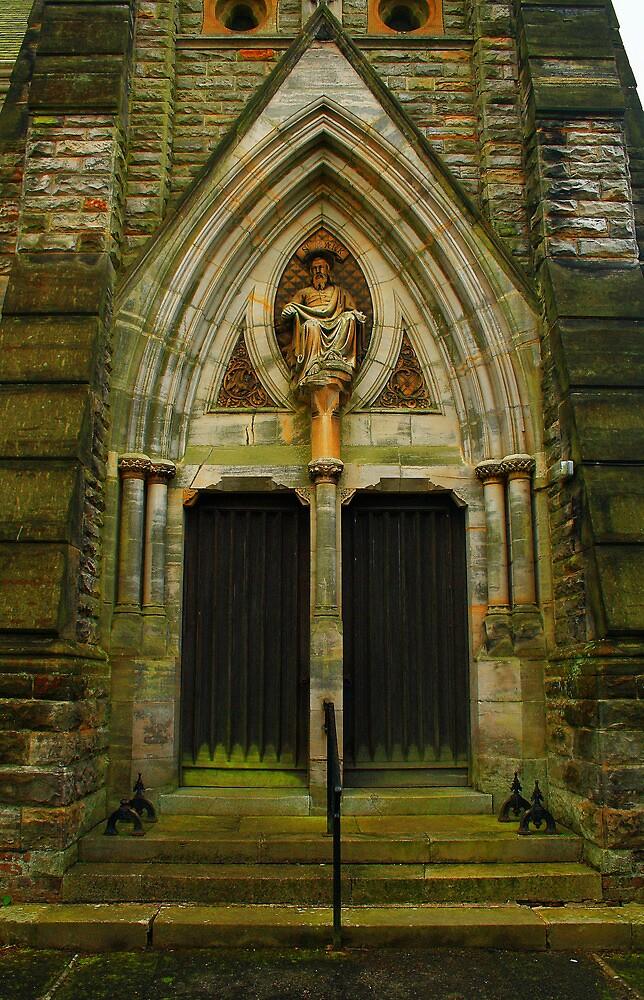 St Mark's Divinity Through Double Doors by Dave Godden