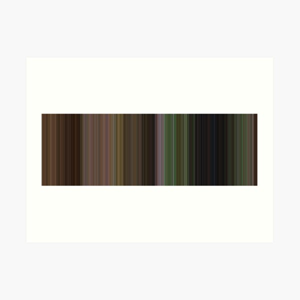 Moviebarcode: The Wizard of Oz (1939) [Simplified Colors] Art Print