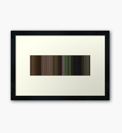 Moviebarcode: The Wizard of Oz (1939) [Simplified Colors] Framed Print