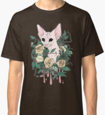 Light Floral Feline Classic T-Shirt