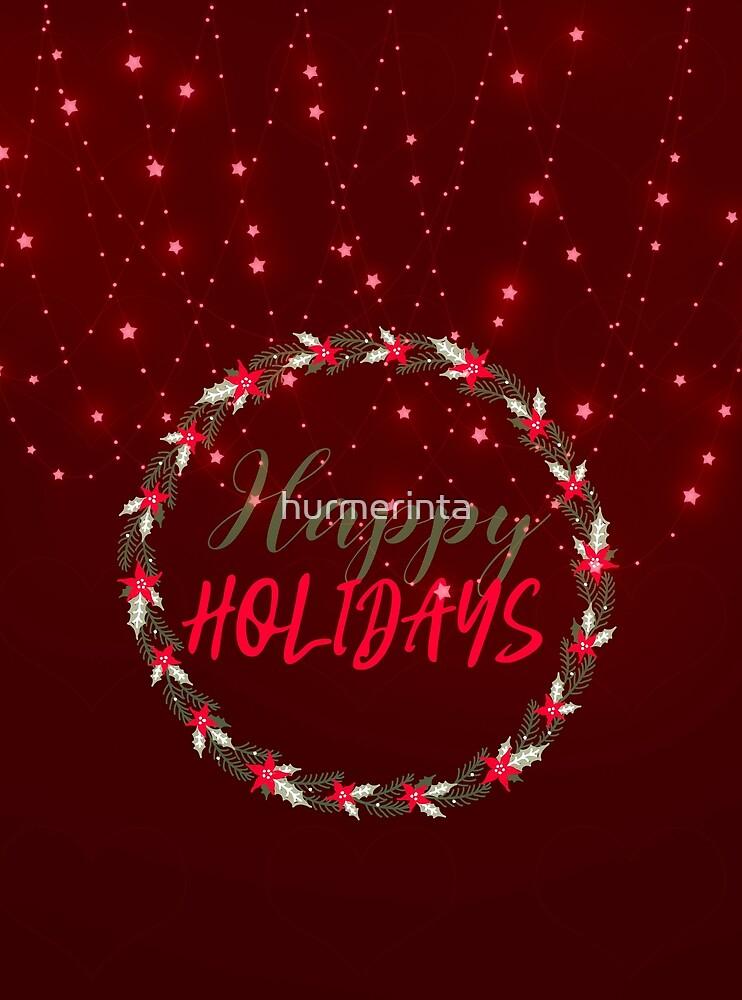 Happy Holidays Red Decorative Design 2 by hurmerinta