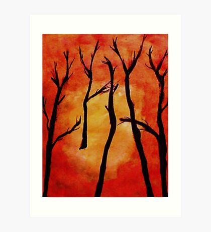 It;s HOT, after the fire, watercolor Art Print