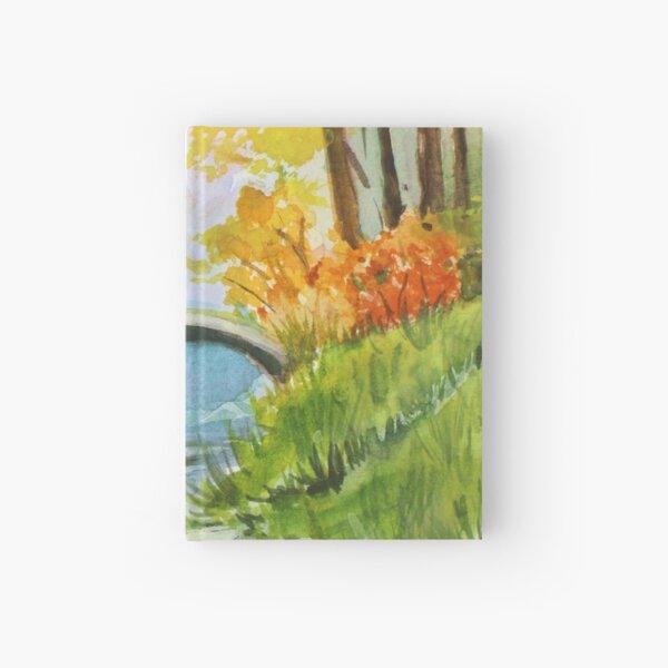 Beautiful Fall Bridge Reflections Hardcover Journal