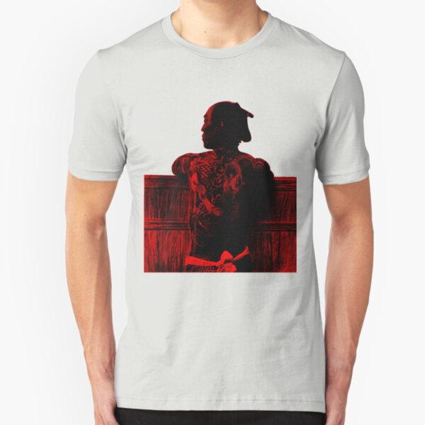 Red Tattooed Samura Slim Fit T-Shirt