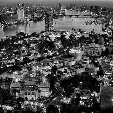 Cairo at night by hanykamel