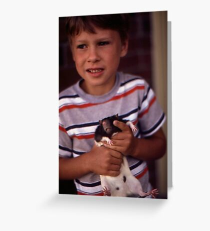 A Boy and His Pet Greeting Card
