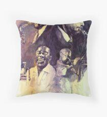 Jazz Legends Parker Gillespie Armstrong  Throw Pillow