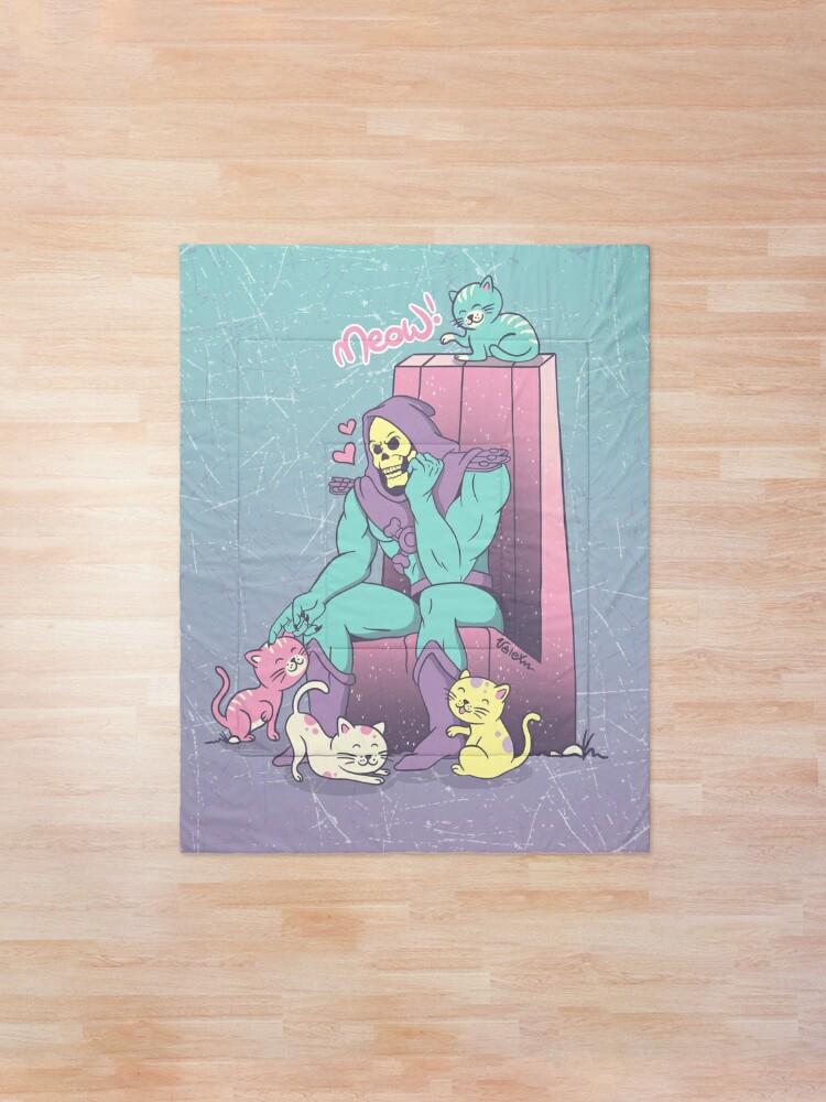 Alternate view of Skelemeow! Comforter