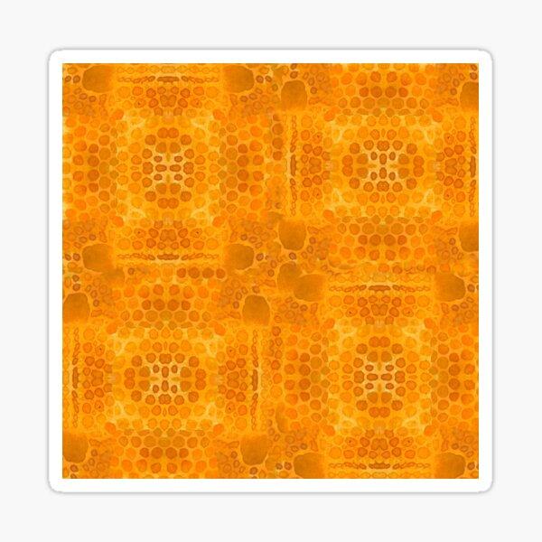 yellow micro textures Sticker