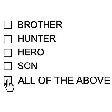 Dean Winchester Checklist by JasperSteel
