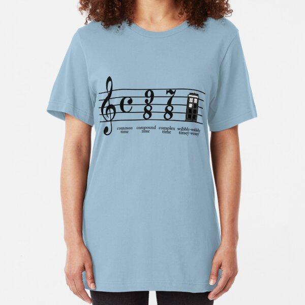 Wibbly-wobbly timey-wimey Slim Fit T-Shirt