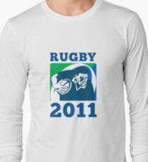 rugby player running with ball world cup 2011 T-Shirt