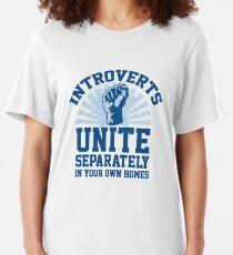 Introverts Unite Slim Fit T-Shirt