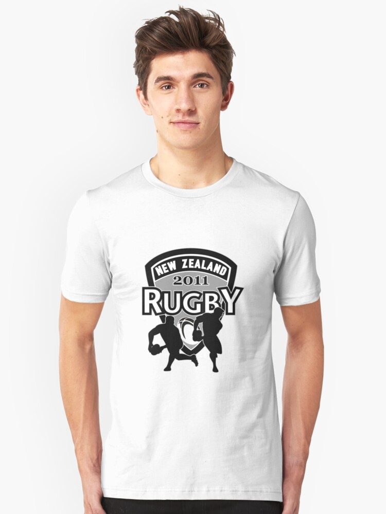 New Zealand rugby world cup 2011 ball shield Unisex T-Shirt Front