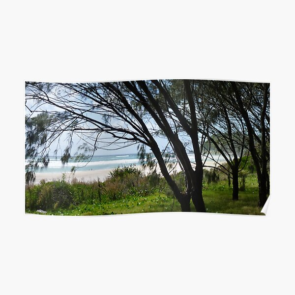 Burleigh Heads Beach Panorama  Poster
